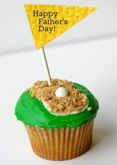 Fathers Day Golf Cupcake via @B. Lovely Events