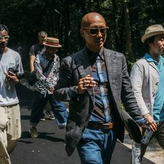 Street style on the way to Balenciaga's woodland show. Adam Birkan photographs for GQ in Paris, France