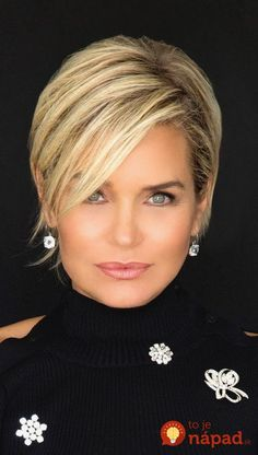 Top 36 Short Blonde Hair Ideas for a Chic Look in 2019 - Style My Hairs Short Straight Hair, Short Hair With Layers, Short Hair Cuts, Short Hair Styles, Short Hair Long Bangs, Curly Short, Bob Styles, Long Hair, Short Hairstyles Fine