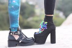 Jeffrey Campbell Roscoe Cutout Shoes vs. UNIF Hellbounds
