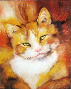 Art: FAT CAT SWEET KITTY by Artist Marcia Baldwin