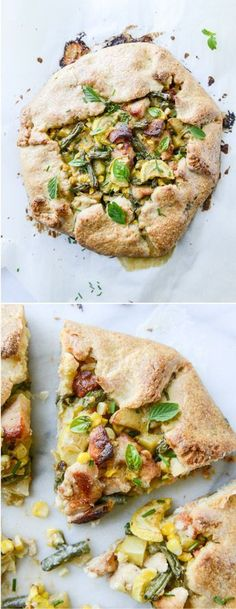 Summer Chicken Pot Pie Galette by @how sweet eats I howsweeteats.com
