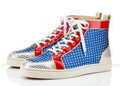 Christian Louboutin Superball Men Flat Shoes Multicolor
