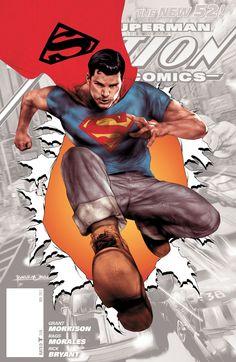 #Superman #Fan #Art. (Action Comics Vol.2 #0 Cover) By: Ben Oliver.