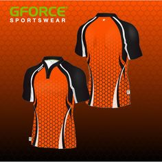 Stand out on the pitch with this orange design. Shown here on the pro-fit rugby shirt with South African collar. Netball Dresses, Orange Design, Team Wear, Design Your Own, Pitch, Rugby, Wetsuit, African