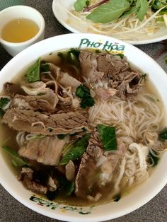 Combo Pho (with steak, flank, tendon, tripe, and fatty flank) - at Phở Hòa