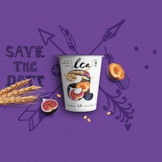LCA Yogurt on Packaging of the World - Creative Package Design Gallery - Campañas Publicitarias - Yogurt Yogurt Packaging, Dairy Packaging, Brand Packaging, Food Design, Creative Design, Label Design, Package Design, Creative Artwork, Advertising Design