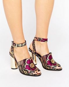 Shop ASOS HENA Co-Ord Heeled Sandals. With a variety of delivery, payment and return options available, shopping with ASOS is easy and secure. Shop with ASOS today. Pretty Shoes, Beautiful Shoes, Cute Shoes, Funky Shoes, Crazy Shoes, Shoe Boots, Shoes Heels, Pumps, Heeled Sandals