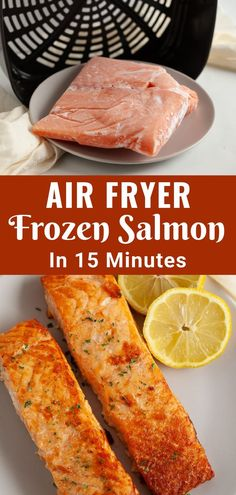 This method for Air Fryer Salmon shows you exactly how to cook a frozen salmon fillet in your air fryer or Ninja Foodi in just 15 minutes or less. There's no excuse for getting healthy food on the table quickly when using this way to air fry frozen fish.