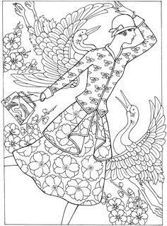 Welcome to Dover Publications Creative Haven Art Deco Fashions Coloring Book
