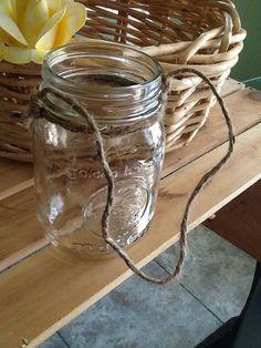 Pendaison mason jar par PineNsign sur Etsy