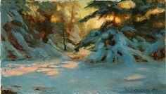 Winter Solstice by William Schneider Oil ~ 14 x 24