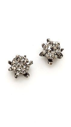 Lauren Wolf Jewelry Druzy Stud Earrings