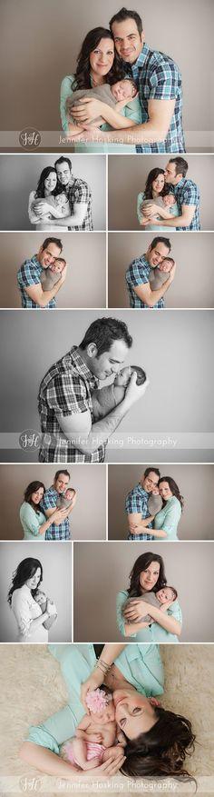 Newborn Photography Metro Detroit Newborn girl with her parents