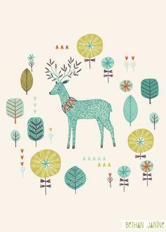 forest deer - Bethan Janine