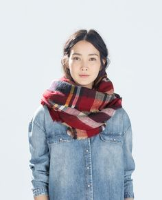 I have to have this scarf!!!!!!!!! $29 zara.com