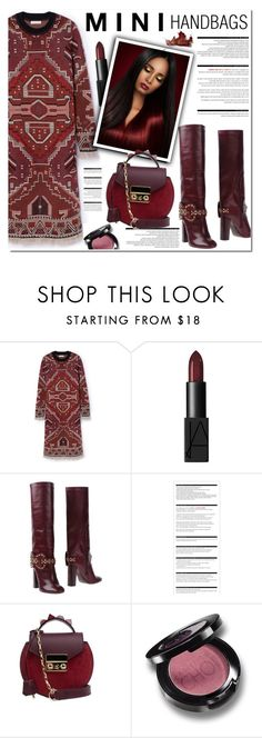 """""""MINI HANDBAGS"""" by nanawidia ❤ liked on Polyvore featuring Tory Burch, NARS Cosmetics, Arche and SALAR"""