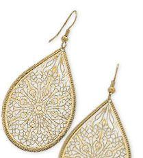 Premier Designs Gold Lace Earrings