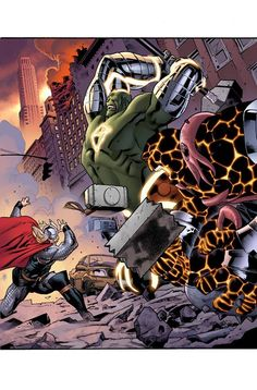 Thor by Stuart Immonen, colours by Laura Martin *