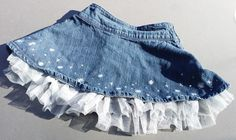 Gymboree Jean Skirt Snowflake Glamour  Blue Denim with Tulle underskirt Size 3 #Gymboree #Skirt #DressyEverydayHoliday