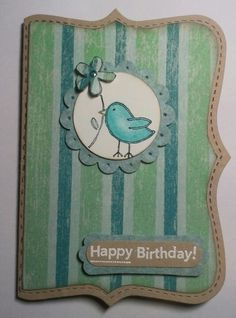 All occasion card - Bird - Top note die
