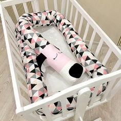 Baby crib bumper SLEEPY DOG baby pillow dog