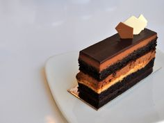 dark chocolate cake layered with milk jam and chocolate mousse Cake Recipes, Dessert Recipes, Cake Slices, Dark Chocolate Cakes, Beautiful Desserts, Food Photo, Just Desserts, Amazing Cakes, Food Art