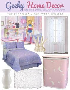 Geek Home Decor: Sailor Moon - Usagi's Bedroom