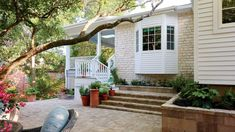 Looking for the best house plans? Check out the The Ridge plan from Southern Living. Houses In Austin, Austin Homes, Austin Texas, Backyard Patio Designs, Backyard Landscaping, Backyard Pergola, Pergola Kits, New Patio Ideas, Porch Ideas