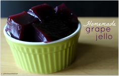 Easy Homemade Grape Jello