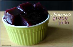Easy Homemade Grape Jello