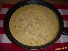 Recept: Chalupářská omáčka s kuřecím masem-DĚKUJI RECEPTY.EU Czech Recipes, Food 52, Cheeseburger Chowder, Ham, Chicken Recipes, Food And Drink, Soup, Cooking Recipes, Menu