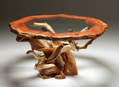 Wood and glass table - stunning!