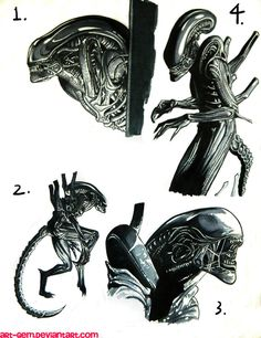 Alien: Isolation sketches by Art-Gem