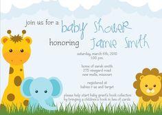 Safari Theme Baby Shower Invite by SimplyCreativeMel on Etsy, $14.00