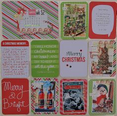 "Project Life: Week 52-2013. I used the gorgeous ""Merry and Bright"" mini kit!"