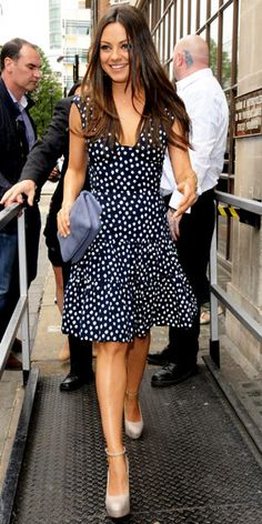 mila kunis. usually i hate polka dots, but this is fabulous.