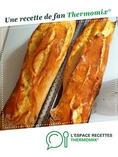 Baguette in weniger als 1 Stunde - Thermomix - Cooking Chef, Batch Cooking, Baguette Express, Pan Focaccia, Pain Thermomix, Thermomix Desserts, Gluten Free Recipes For Dinner, Healthy Recipes, Baguette