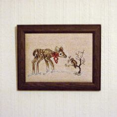 Don't you love embroidery art? This little darling is the latest addition to my collection, and it is now hanging above my desk and just makes me so happy every time I look at it! I got this little treasure from http://www.etsy.com/shop/DecorateVintageStyle