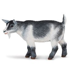 This is a Pygmy Nanny Goat animal figure. The Pygmy Nanny Goat figure is made by Safari Ltd. Safari is widely known as one of the best companies that produces accurate and lifelike animal figures and