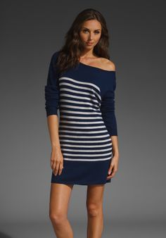 American Vintage Striped Sweater Dress in Ink/Sand $105.00
