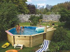 Simple Holzpool KARIBU Modell Schwimmbecken aus Holz Tolles Badevergn gen im eigenen Garten