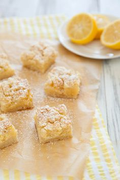Creamy Lemon Crumb Bars Yield: 1 8x8 inch pan Ingredients  For the lemon cream filling:       1 cup granulated sugar     Zest of 2 la...