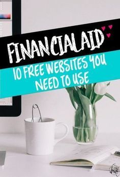 College Financial Aid: 10 Websites You NEED to Use! These websites provide educa… College Financial Aid: 10 Websites You NEED to Use! These websites provide education on grants, scholarships, student loans, and other types of financial aid. Grants For College, Financial Aid For College, Online College, College Hacks, Education College, College Life, College Loans, College Ready, School Hacks