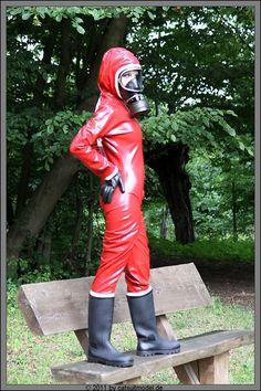 Catsuit, Gas Mask Girl, Latex Wear, Hazmat Suit, Latex Costumes, Gas Masks, Scuba Girl, Heavy Rubber, Rain Wear