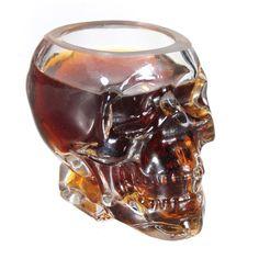 Verre Alcool Tete Mort Head Shot Skull Glass Crane Cristal Coupe vodka verrerie: Amazon.fr: Cuisine & Maison
