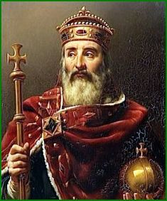 Charlemagne also known as Karl and Charles the Great, was a medieval emperor who ruled much of Western Europe from 768 to In Charlemagne became king of the Franks European History, World History, Ancient History, French History, My Family History, Germanic Tribes, Carolingian, Empire Romain, Holy Roman Empire