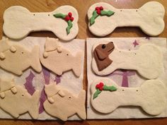 DIY Christmas dog gifts - make your own ornaments for pets. Also dog treat recipes. Dog Christmas Gifts, Homemade Christmas Gifts, Christmas Animals, Christmas Love, Homemade Gifts, Christmas Crafts, Christmas Ideas, Christmas Ornaments, Pet Gifts