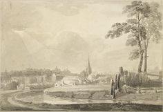A view of the River Rea near Birmingham by Samuel Lines