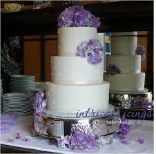 floating tier wedding cake with hydrangeas - Google Search